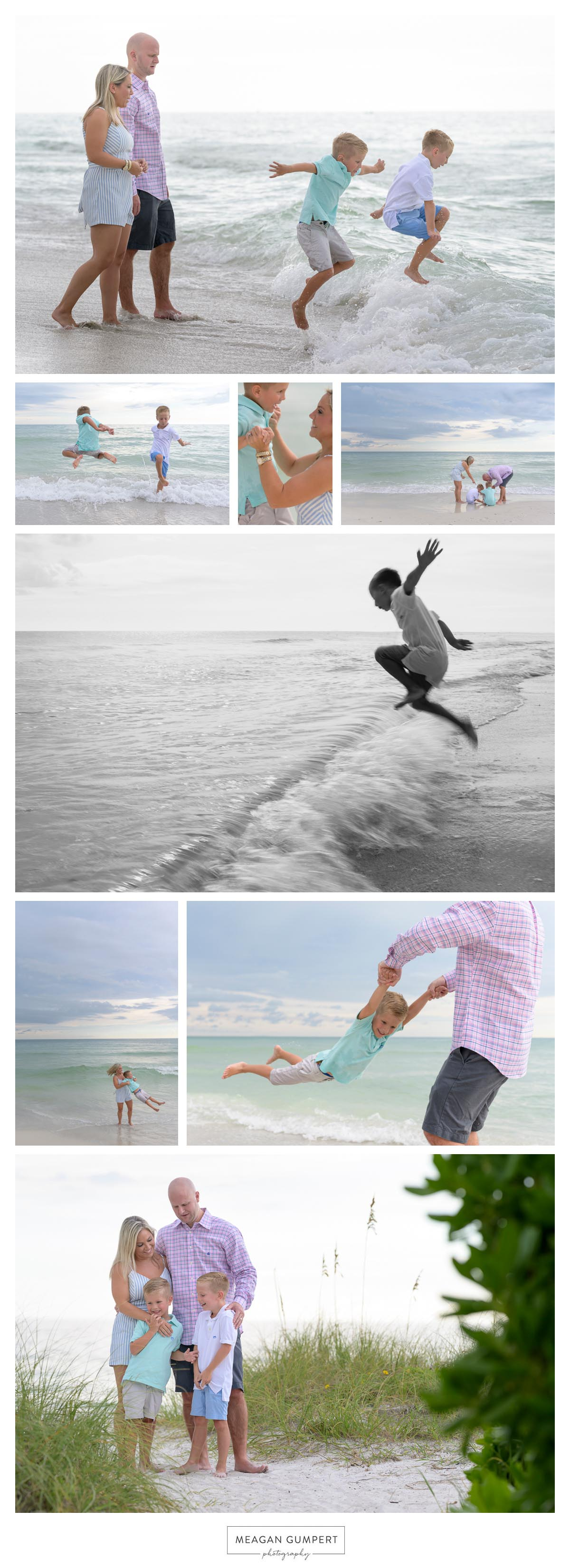 Lifestyle family beach photography by Meagan Gumpert